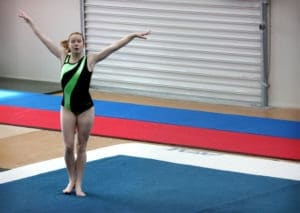 Gymnast using Sports Performance